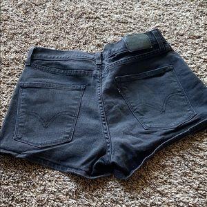 COPY - Black Denim High Rise Levi's Shorts